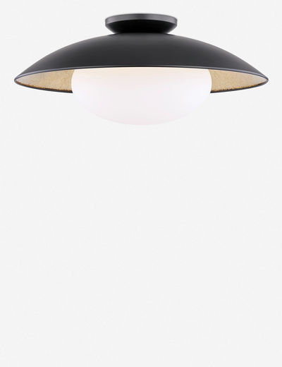 Quinn Semi-Flush Light, Black