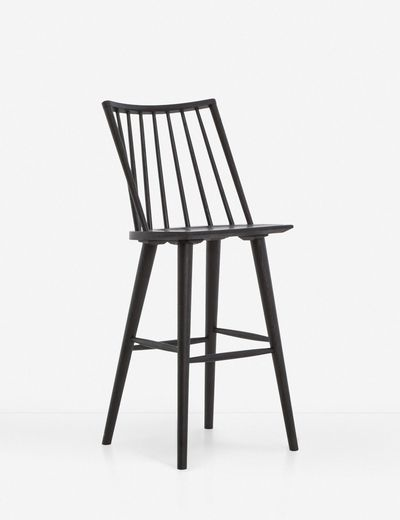 Lanae Bar Stool, Black Oak