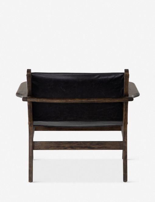Sela Leather Accent Chair, Black