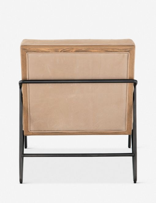 Anouk Leather Accent Chair, Tan