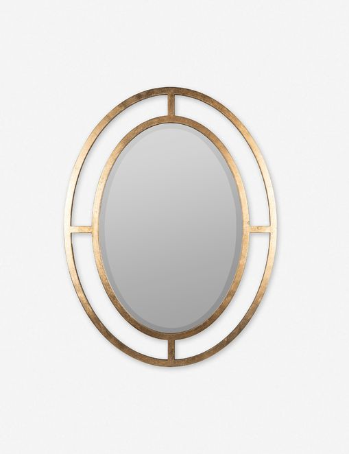 Samia Oval Mirror, Gold