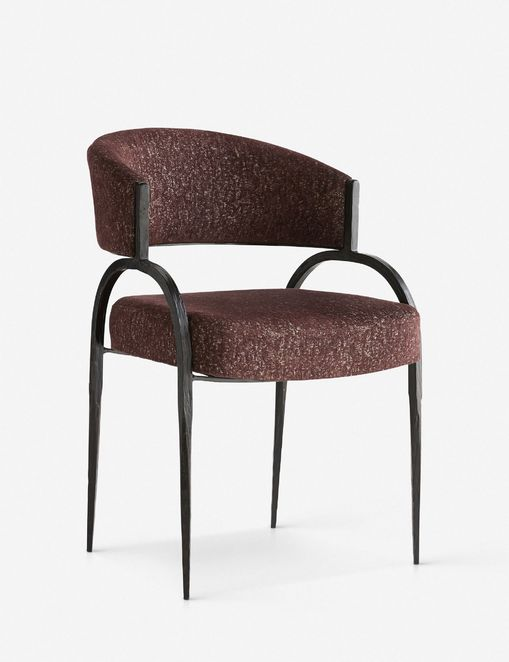 Arteriors Bahati Accent Chair, Bordeaux