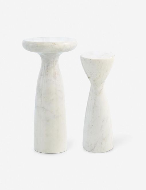Marielle Side Table, White Marble