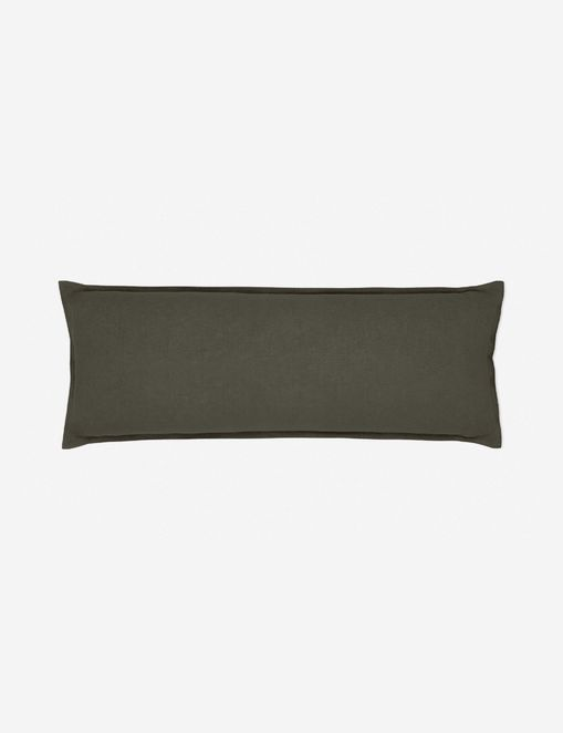 Arlo Linen Long Lumbar Pillow, Conifer