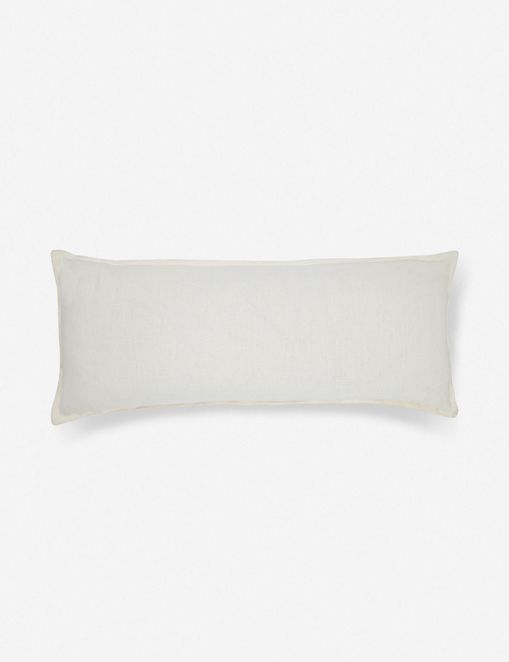 Arlo Linen Long Lumbar Pillow, Ivory