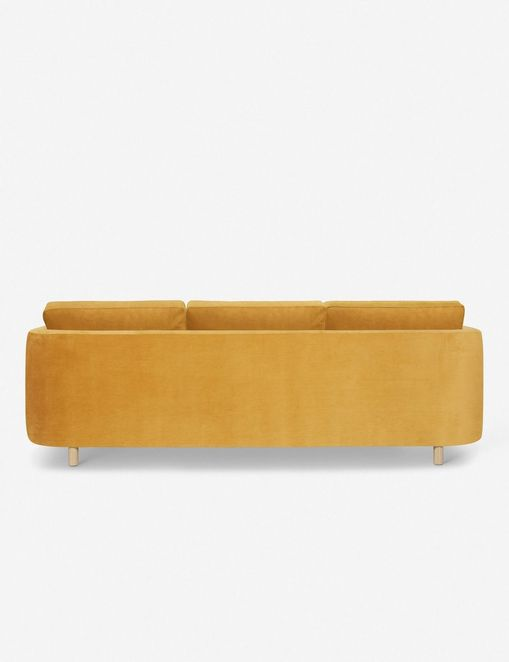 Belmont Left-Facing Sectional Sofa, Goldenrod By Ginny Macdonald