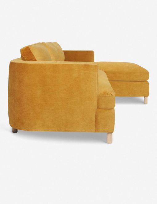 Belmont Right-Facing Sectional Sofa, Goldenrod By Ginny Macdonald