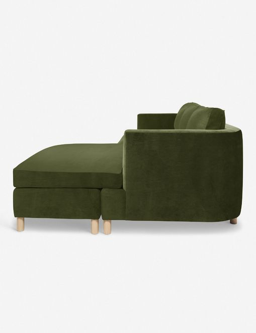 Belmont Right-Facing Sectional Sofa, Jade By Ginny Macdonald