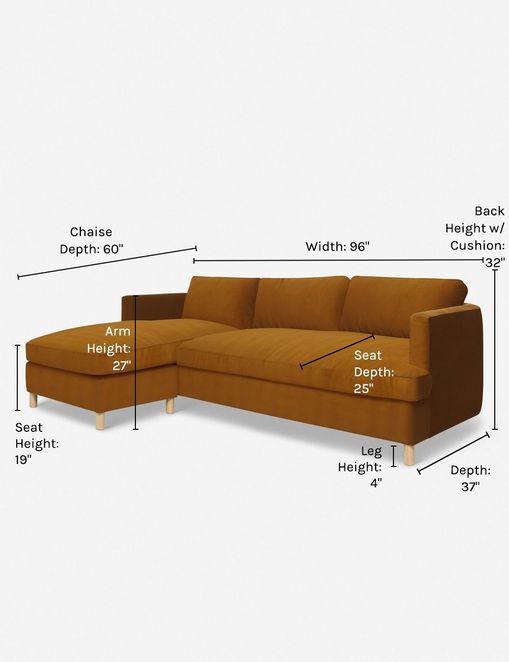 Belmont Left-Facing Sectional Sofa, Cognac By Ginny Macdonald