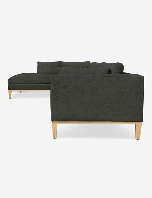 Charleston Left-Facing Sectional Sofa, Charcoal