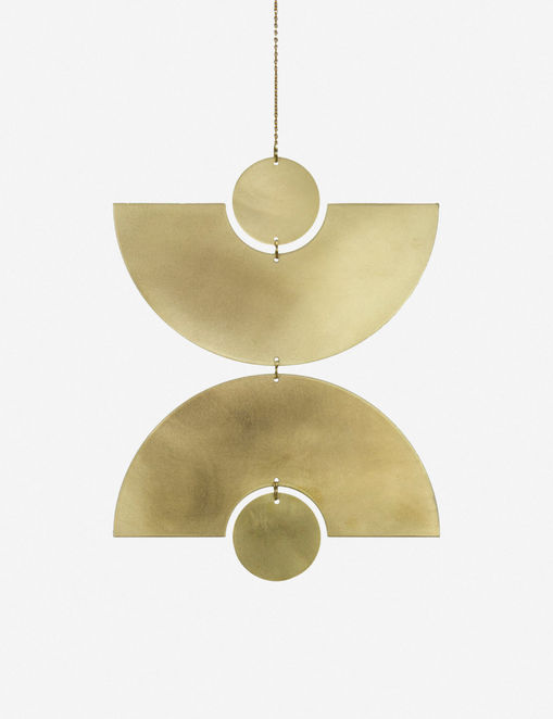 Circle & Line Double Arc Wall Hanging