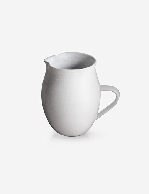 Sheldon Ceramics Farmhouse Creamer, Eggshell
