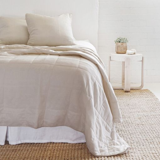 Pom Pom at Home Antwerp Coverlet, Natural