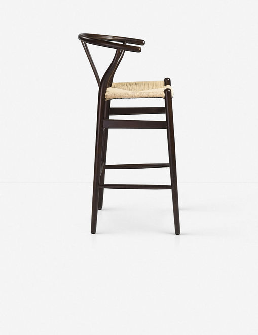 Cylia Bar Stool, Walnut