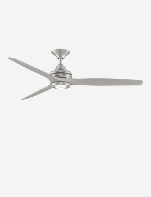 Solaria Ceiling Fan + Light, Brushed Nickel