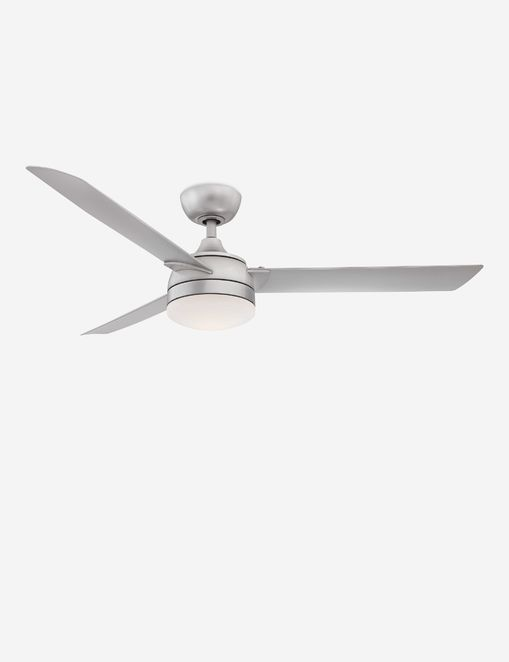 Alya Indoor / Outdoor Ceiling Fan + Light, Silver