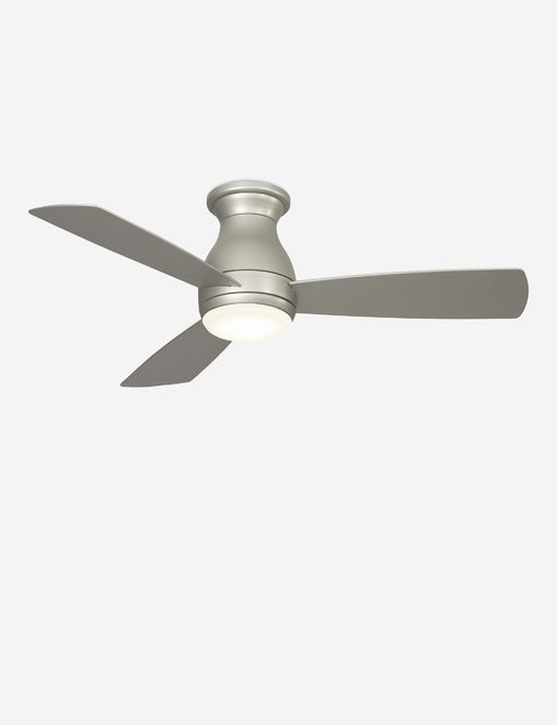 Vega Ceiling Fan + Light, Brushed Nickel