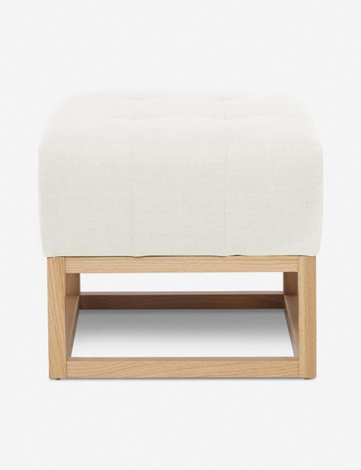 Grasmere Ottoman, Oyster By Ginny Macdonald
