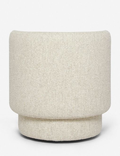 Hazel Swivel Chair, Natural Boucle