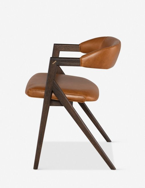 Sandia Leather Dining Chair, Natural