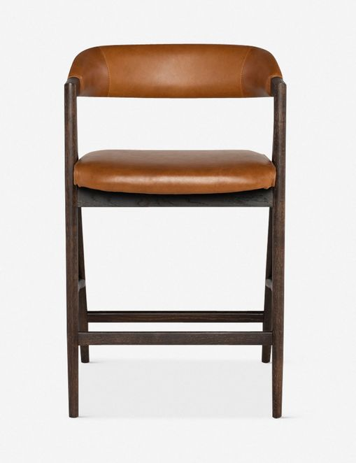 Sandia Leather Counter Stool, Natural