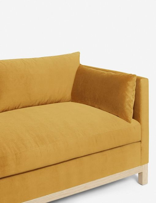 Hollingworth Left-Facing Sectional Sofa, Goldenrod By Ginny Macdonald