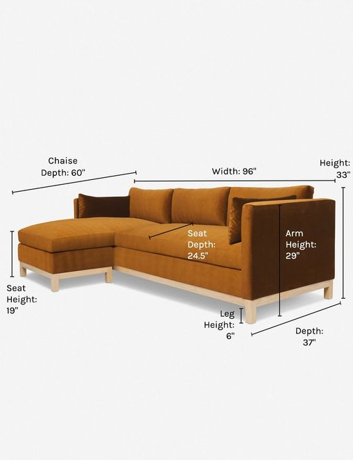 Hollingworth Left-Facing Sectional Sofa, Cognac By Ginny Macdonald