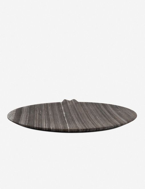 Desirae Display Tray, Rough Black Marble