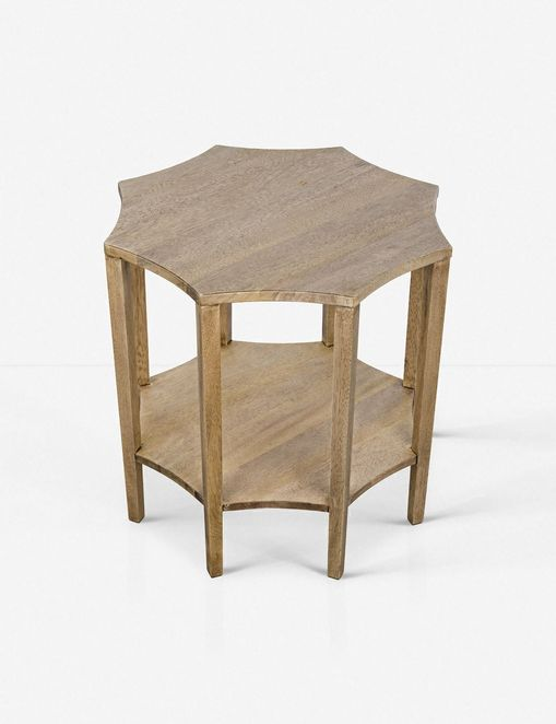 Ivone Side Table, Washed Walnut