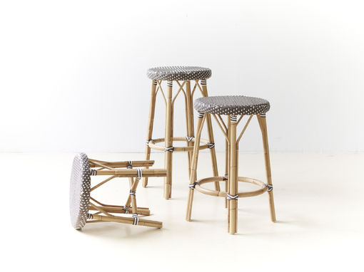 Pima Bar Stool, White Dot