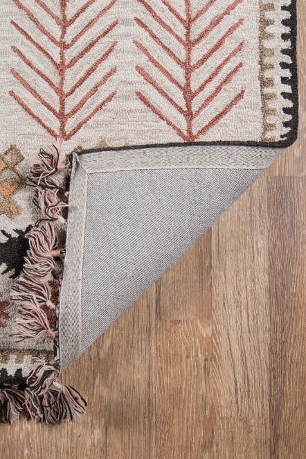 Jette Rug, Ivory and Rust