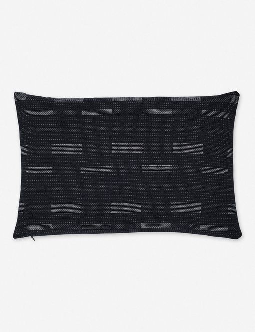 Kimora Lumbar Pillow, Black