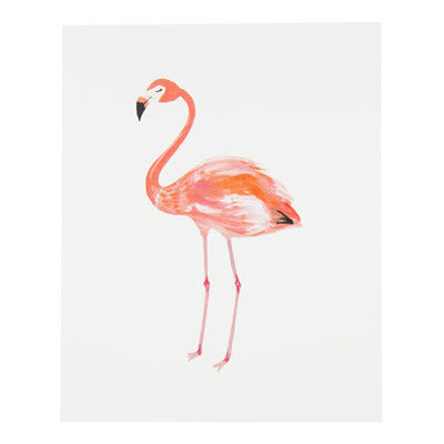 Lady Flamingo Print