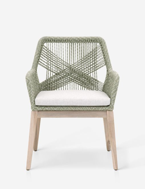 London Indoor / Outdoor Dining Arm Chair, Moss (Set of 2)