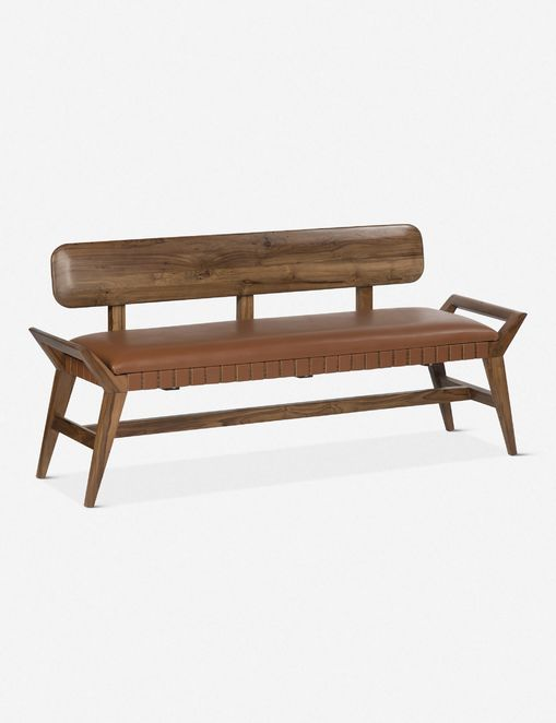 Sienna Leather Bench