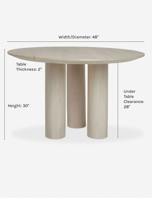 Mojave Round Dining Table