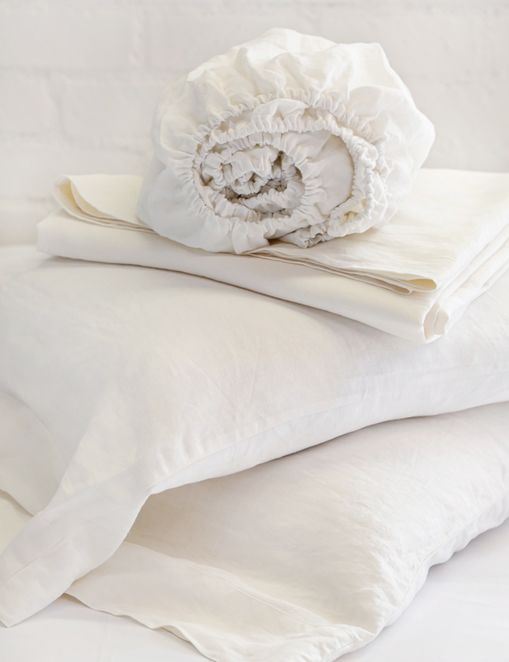 Pom Pom at Home Linen Sheet Set, Cream