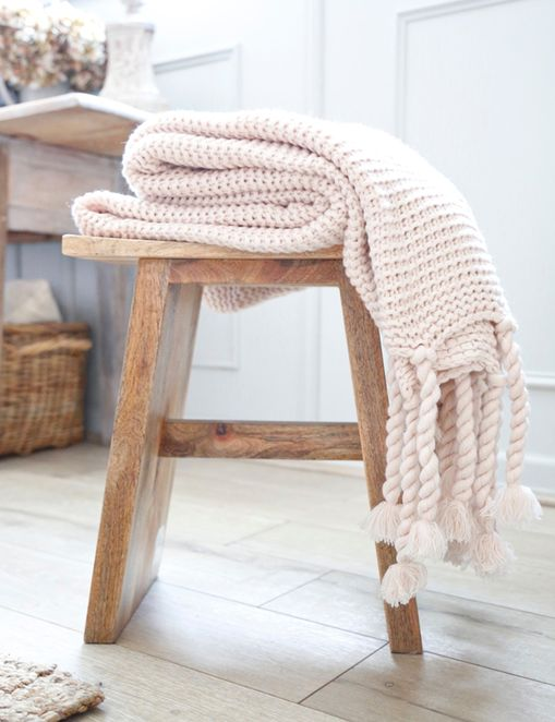 Pom Pom at Home Trestles Throw, Blush