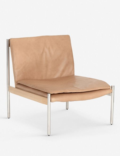 Ronella Leather Accent Chair, Sahara Tan