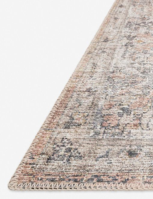 Roze Rug, Blush and Grey
