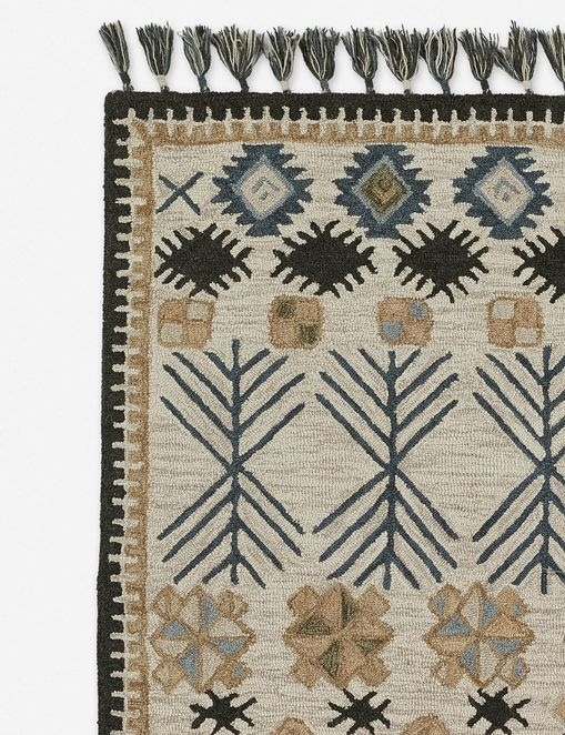 Jette Rug, Ivory and Navy