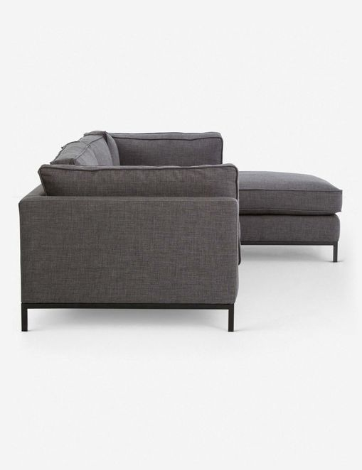 Fritzie Right-Facing Sectional Sofa, Charcoal