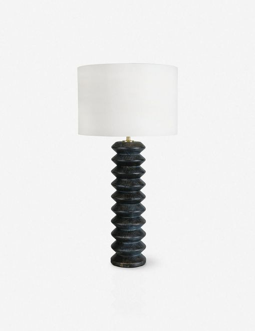 Coastal Living Accordion Table Lamp, Ebony