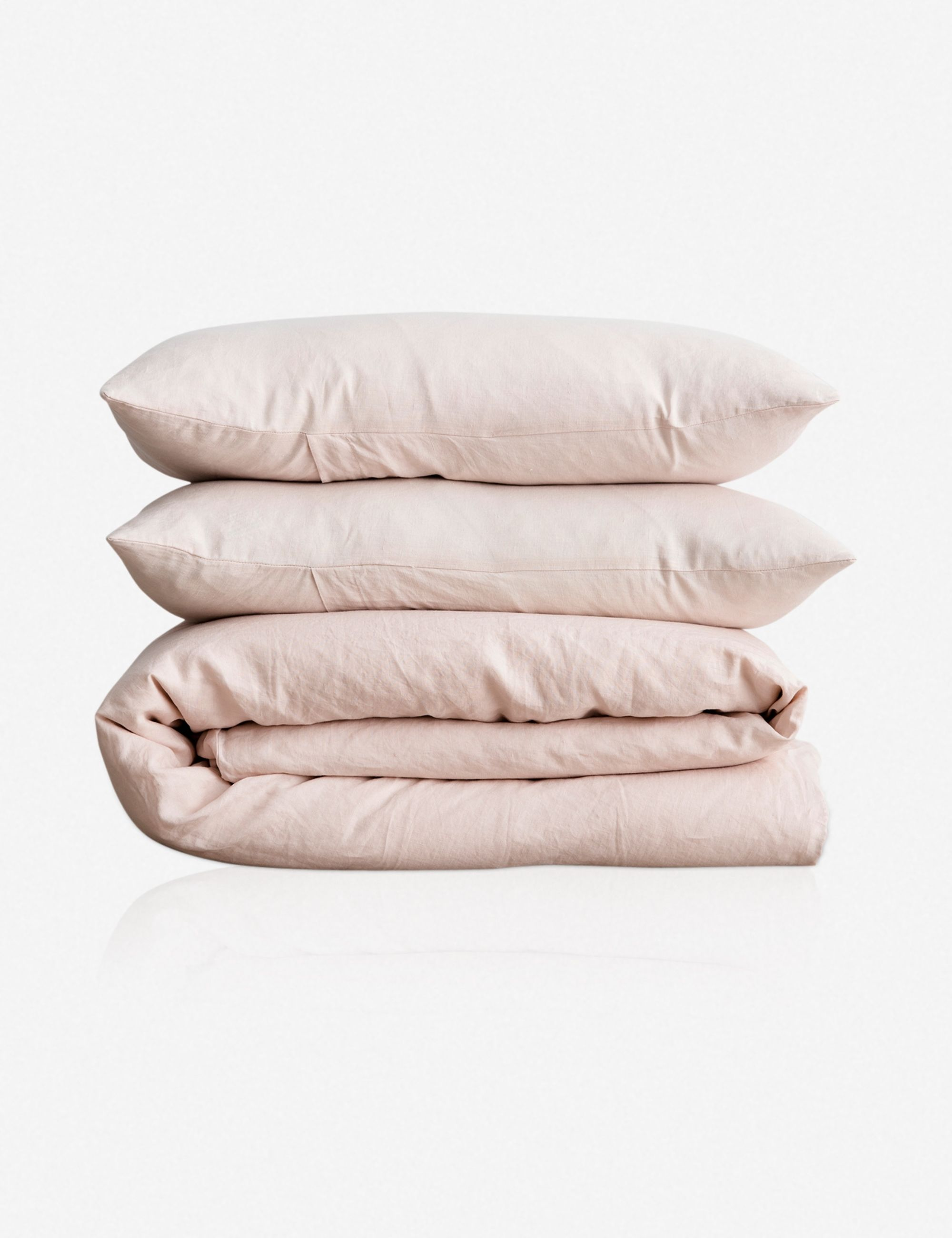 Cultiver Linen Bedding Blush Duvet Set