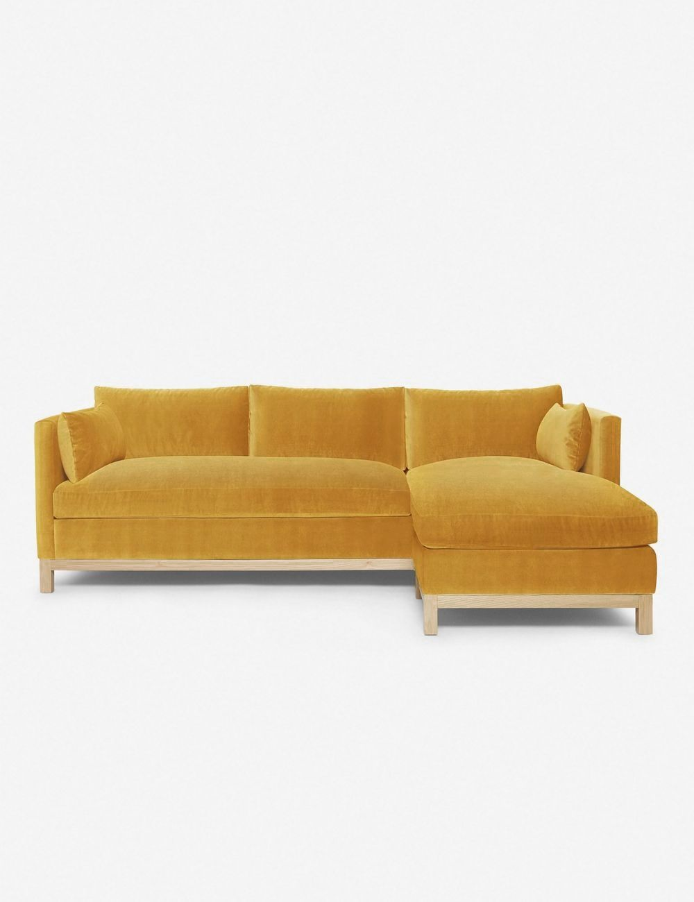 Hollingworth Right Facing Sectional Sofa Goldenrod By Ginny Macdonald