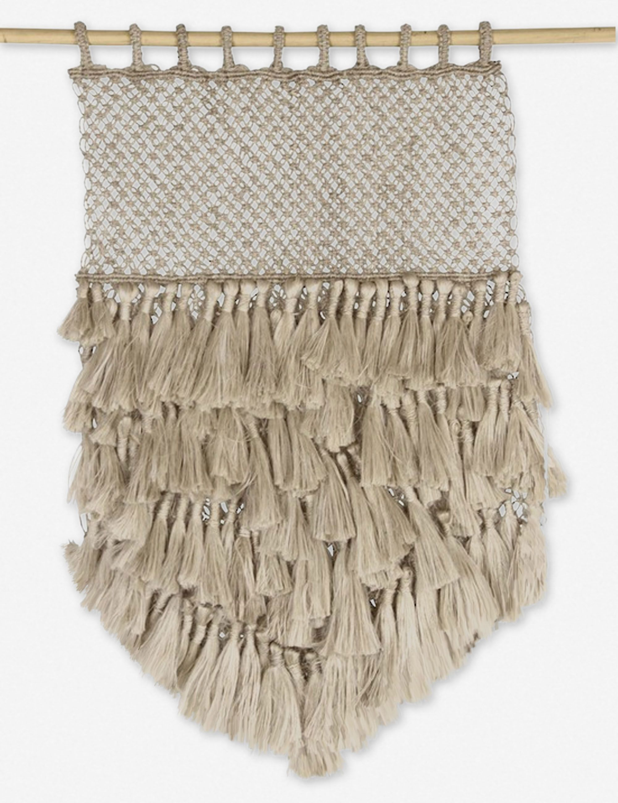 Comilla Jute Macrame Wall Hanging Natural With Tassels