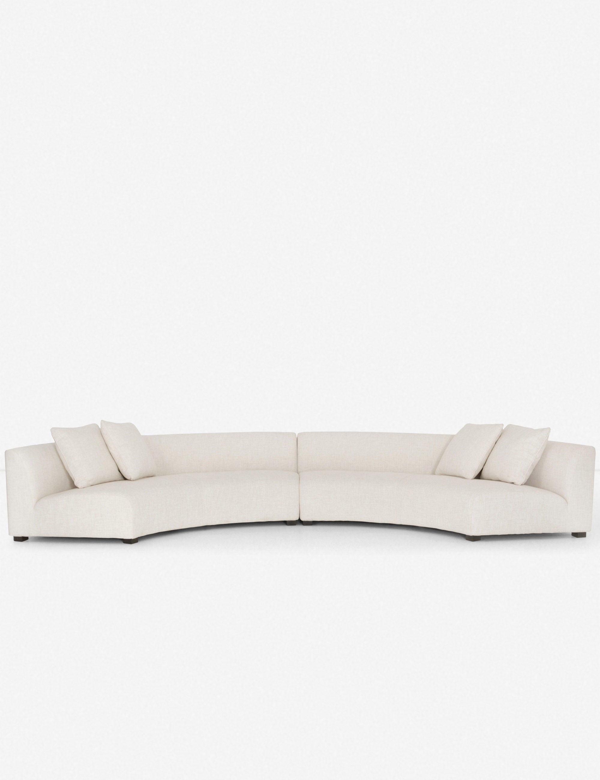 Super Saban 2 Piece Crescent Sectional Sofa Ivory Evergreenethics Interior Chair Design Evergreenethicsorg
