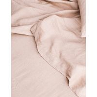 Cultiver Linen Bedding, Blush Flat Sheet