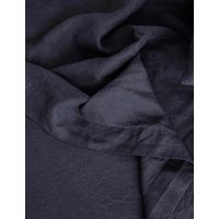 Cultiver Linen Bedding, Navy Flat Sheet