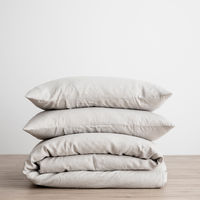 Cultiver Linen Bedding, Smoke Gray Duvet Set
